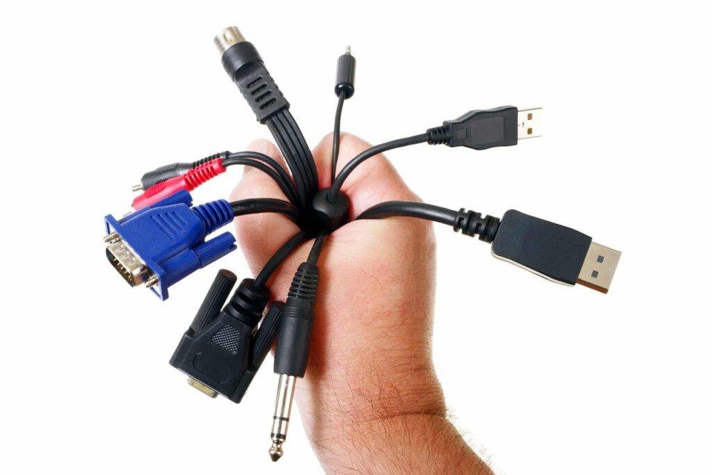 excesso de cabos